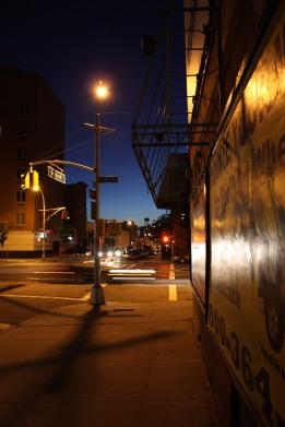 dusk street corner
