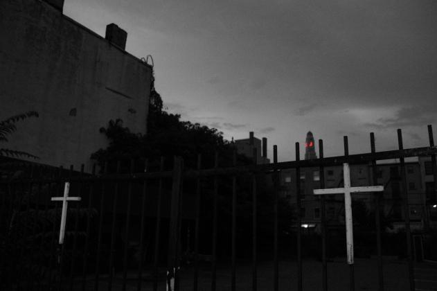 fence crosses