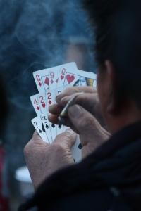 cards and smoke